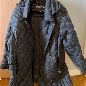 Michael Kors grey  size 2X packable Down fill coat